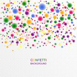 Mångfärgade festliga konfettier 3d med en oskarp effekt Royaltyfri Foto