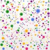 Mångfärgade festliga konfettier 3d på en genomskinlig bakgrund Arkivfoton