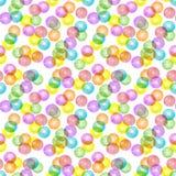 Mångfärgade genomskinliga bollar Stock Illustrationer