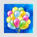 Mångfärgade glansiga ballonger Royaltyfri Foto