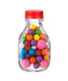 Mångfärgade gumballsbubbelgummar Arkivfoton