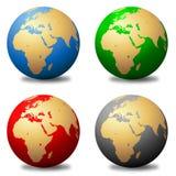 mångfärgade jordklot Royaltyfri Bild