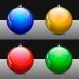 Mångfärgade julbollar för garneringar vektor illustrationer