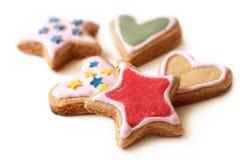 Mångfärgade kakor för jul Royaltyfri Fotografi