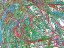 Mångfärgade kaotiska penseldrag Royaltyfri Bild
