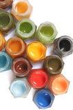 mångfärgade målarfärger fotografering för bildbyråer