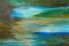 Mångfärgade målningar av vattenfärgmålarfärg Royaltyfri Foto