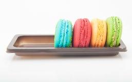 Mångfärgade macarons Royaltyfria Bilder