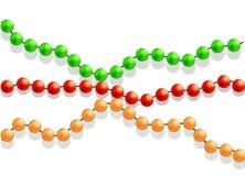 Mångfärgade pärlor på en vit bakgrund vektor illustrationer