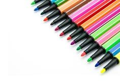Mångfärgade pennor för filtspets Royaltyfri Bild