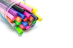 Mångfärgade pennor för filtspets Royaltyfria Foton