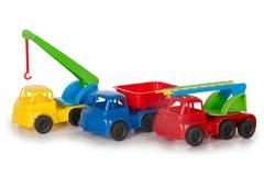 Mångfärgade plast- leksaker royaltyfria bilder
