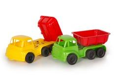 Mångfärgade plast- leksaker royaltyfri bild