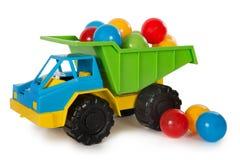 Mångfärgade plast- leksaker arkivbild
