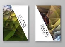 Mångfärgade Polygonal mosaiska bakgrunder för broschyr Royaltyfri Foto