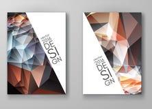 Mångfärgade Polygonal mosaiska bakgrunder för broschyr Royaltyfri Bild