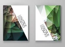 Mångfärgade Polygonal mosaiska bakgrunder för broschyr Arkivfoton