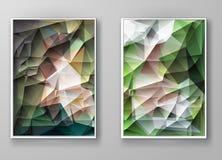 Mångfärgade Polygonal mosaiska bakgrunder för broschyr Royaltyfri Fotografi