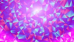 Mångfärgade rosa färger och den blåa polygonal kalejdoskopet gör sammandrag bakgrund, räkningen som består av en struktur av tria Arkivbild