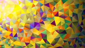 Mångfärgade rosa färger och den blåa polygonal kalejdoskopet gör sammandrag bakgrund, räkningen som består av en struktur av tria Royaltyfri Bild