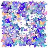Mångfärgade rosa färger och den blåa polygonal kalejdoskopet gör sammandrag bakgrund, räkningen som består av en struktur av tria Royaltyfri Fotografi