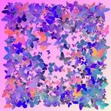 Mångfärgade rosa färger och den blåa polygonal kalejdoskopet gör sammandrag bakgrund, räkningen som består av en struktur av tria Royaltyfria Foton