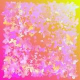 Mångfärgade rosa färger och den blåa polygonal kalejdoskopet gör sammandrag bakgrund, räkningen som består av en struktur av tria Fotografering för Bildbyråer