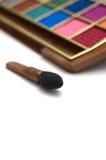 mångfärgade skuggor för borsteöga royaltyfri fotografi