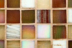 mångfärgade tegelplattor för bakgrund Fotografering för Bildbyråer