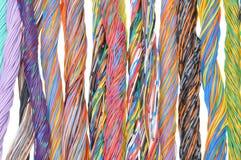 Mångfärgade telekommunikationkablar Royaltyfria Foton