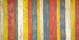 Mångfärgade träbräden Arkivfoto