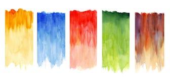 Mångfärgade vattenfärger Arkivfoto