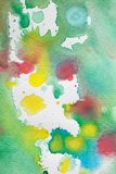 Mångfärgade vattenfärgfärgstänk som bakgrund Abstrakt vattenfärgtextur och bakgrund för formgivare Arkivbilder