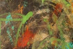 Mångfärgat abstrakt begrepp texturerad bakgrund Grungy vägg - nära u Arkivfoton