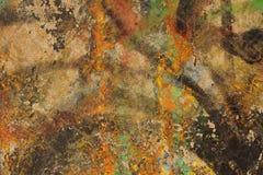 Mångfärgat abstrakt begrepp texturerad bakgrund Grungy vägg - nära u Royaltyfria Foton