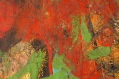 Mångfärgat abstrakt begrepp texturerad bakgrund Grungy vägg - nära u Royaltyfri Fotografi