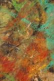 Mångfärgat abstrakt begrepp texturerad bakgrund Grungy vägg - nära u Fotografering för Bildbyråer