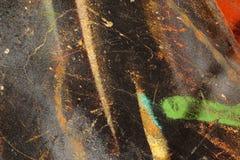 Mångfärgat abstrakt begrepp texturerad bakgrund Grungy vägg - nära u Arkivfoto