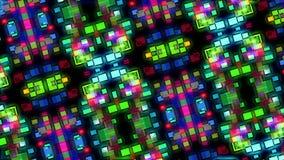 Mångfärgat domkyrkakalejdoskopcirkulär stock video