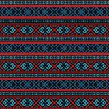 Mångfärgat etniskt sömlöst stock illustrationer