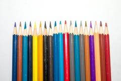 Mångfärgat för blyertspenna som tillsammans sätts i en cirkel Royaltyfria Bilder