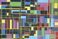 Mångfärgat geometriskt raster Royaltyfri Bild