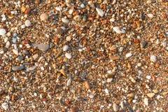 Mångfärgat havsgrus Texturera och bakgrund Royaltyfria Bilder