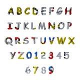 mångfärgat mönstrat alfabet 3d Royaltyfri Bild