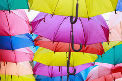 mångfärgat paraply Royaltyfria Foton
