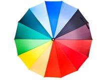 mångfärgat paraply arkivbild