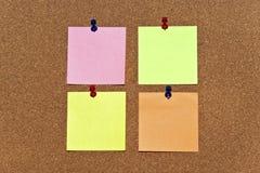 Mångfärgat posta det noterar Fotografering för Bildbyråer