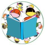 Mångfald: barn och utbildning royaltyfri illustrationer