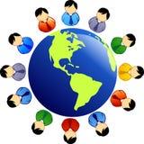mångfaldfolk Arkivbild