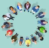 Mångfaldgrupp av gemenskap Team Concept för affärsfolk Arkivfoto